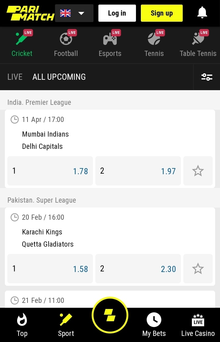 parimatch live cricket betting
